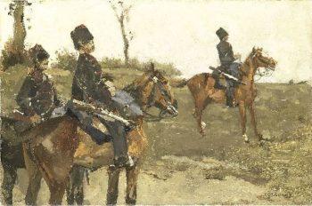 Hussars | George Heidrik Breitner | oil painting