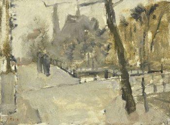 The Leidsegracht in Amsterdam | George Heidrik Breitner | oil painting