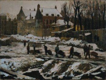 Straat in Aanbouw | George Heidrik Breitner | oil painting