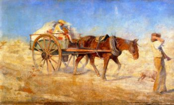 The North Wind | Frederick McCubbin | oil painting