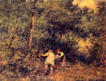 The Rabbit Burrow | Frederick McCubbin | oil painting