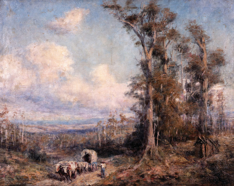 The Road to Braemar | Frederick McCubbin | oil painting