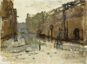 The Baan in Rotterdam | George Heidrik Breitner | oil painting