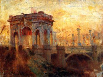 Triumphal Arch at Prince's Bridge Melbourne | Frederick McCubbin | oil painting
