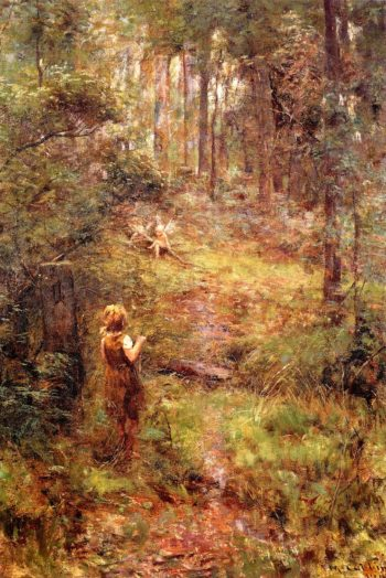 What the Girl Saw in the Bush | Frederick McCubbin | oil painting