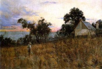 Winter Evening Hawthorn | Frederick McCubbin | oil painting