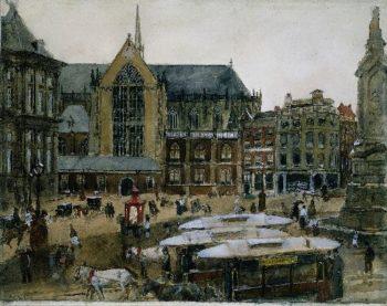 The Dam in Amsterdam | George Heidrik Breitner | oil painting
