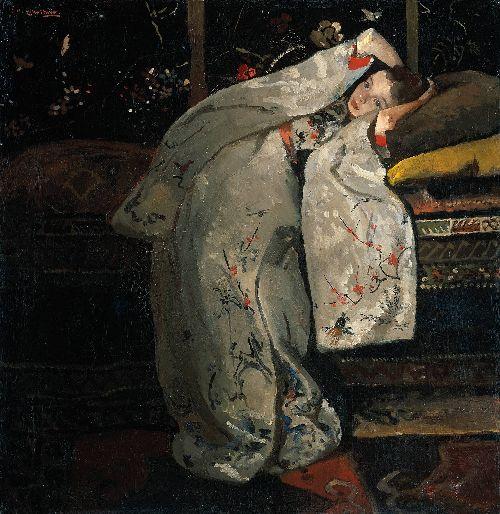 Girl in a White Kimono | George Heidrik Breitner | oil painting