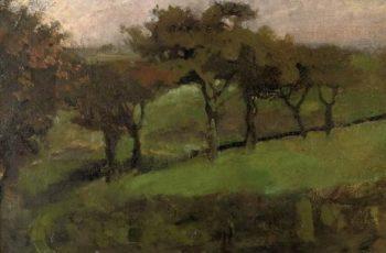 Willows in a meadow | George Heidrik Breitner | oil painting