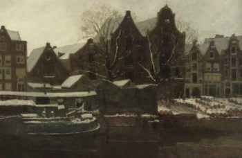 Amsterdam in Winter | George Heidrik Breitner | oil painting
