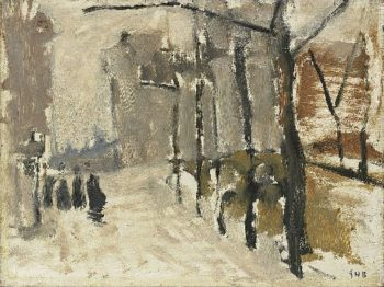 Cityscape in The Hague | George Heidrik Breitner | oil painting