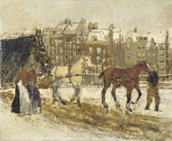 The Rokin in Amsterdam | George Heidrik Breitner | oil painting