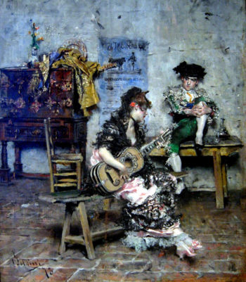 A Guitar Player | Giovanni Boldini | oil painting