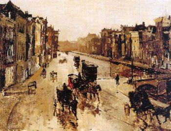 The canal Rokin in Amterdam | George Heidrik Breitner | oil painting