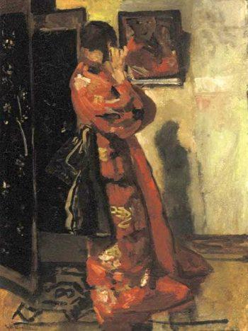 Before the Mirror | George Heidrik Breitner | oil painting