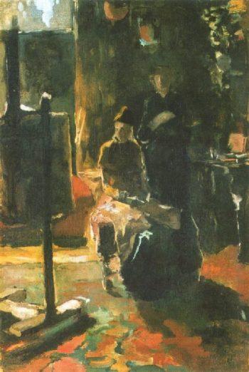 In the workshop | George Heidrik Breitner | oil painting