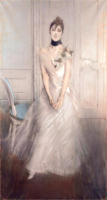 A Portrait of Emiliana Concha de Ossa | Giovanni Boldini | oil painting