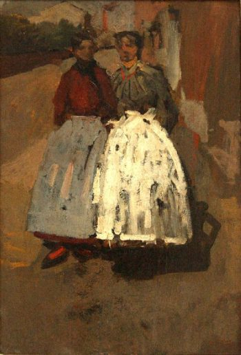 Factory girls | George Heidrik Breitner | oil painting