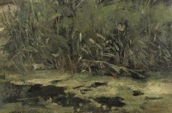 Reed at the riverbank | George Heidrik Breitner | oil painting