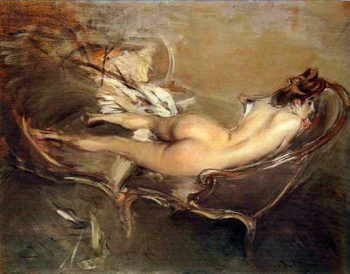 A Reclining Nude on a Day Bed | Giovanni Boldini | oil painting