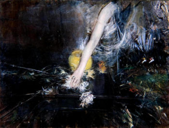 Arm with Vase of Flowers | Giovanni Boldini | oil painting