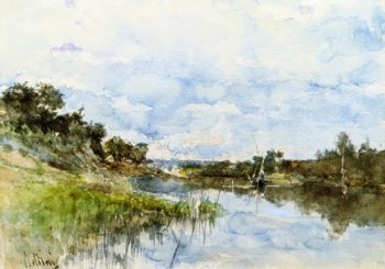 By the River | Giovanni Boldini | oil painting