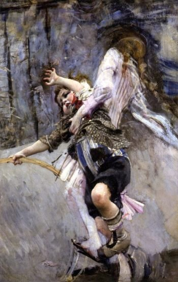 Child with Hoop | Giovanni Boldini | oil painting