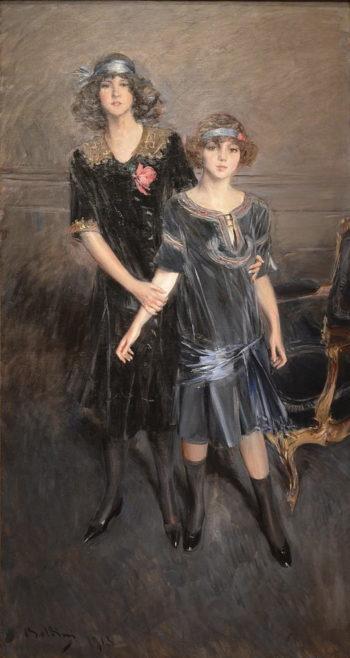 Consuelo and Muriel Vanderbilt | Giovanni Boldini | oil painting