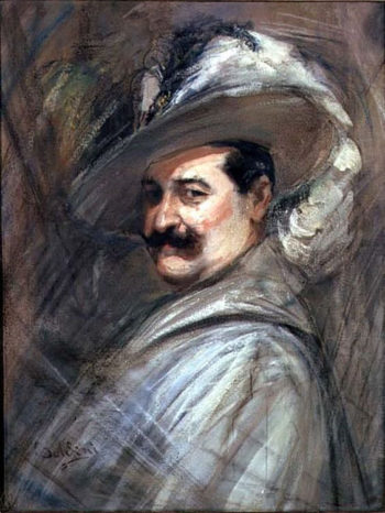 Costantino in the role of Ernani | Giovanni Boldini | oil painting