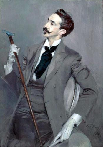 Count Robert de Montesquiou | Giovanni Boldini | oil painting