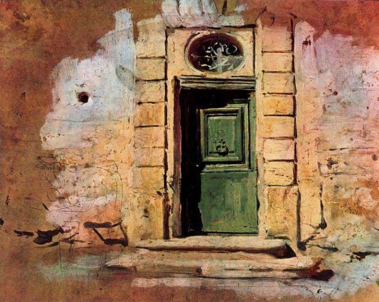 Door in Montmartre | Giovanni Boldini | oil painting