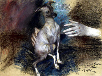 Elegante au chien | Giovanni Boldini | oil painting