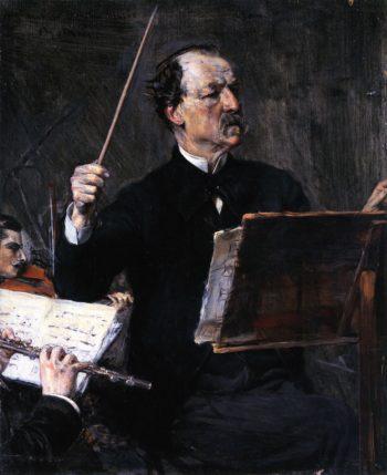 Emanuele Muzio at the Podium   Giovanni Boldini   oil painting