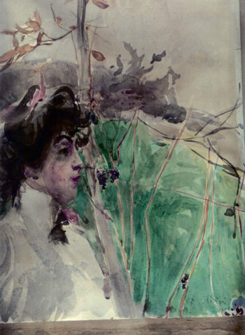 Female Profile   Giovanni Boldini   oil painting