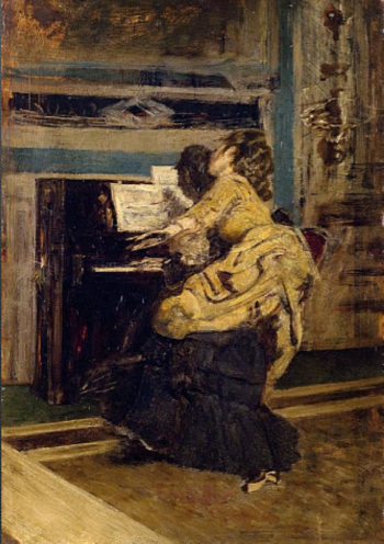 Gentleman at the piano   Giovanni Boldini   oil painting