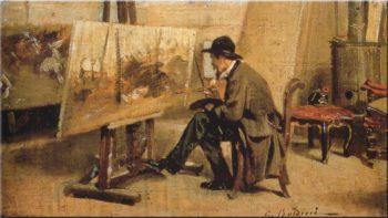 Giovanni Fattori in His Studio   Giovanni Boldini   oil painting