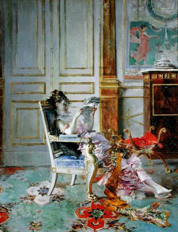 Girl Reading in a Salon   Giovanni Boldini   oil painting