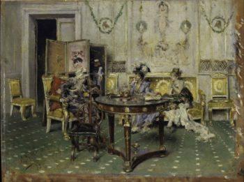 Gossip   Giovanni Boldini   oil painting