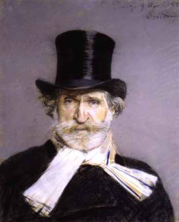 Guiseppe Verdi in a Top Hat   Giovanni Boldini   oil painting