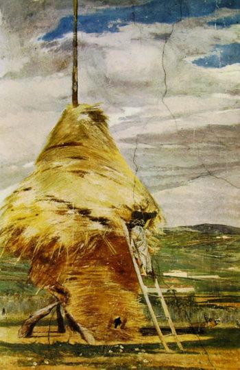 Haystack   Giovanni Boldini   oil painting