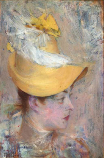 Head of a Lady   Giovanni Boldini   oil painting