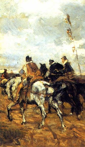 Horses and Knights | Giovanni Boldini | oil painting