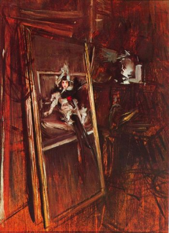 Inside the Studio of the Painter with Errazuriz Damsel | Giovanni Boldini | oil painting