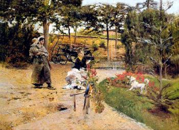 In the Garden | Giovanni Boldini | oil painting