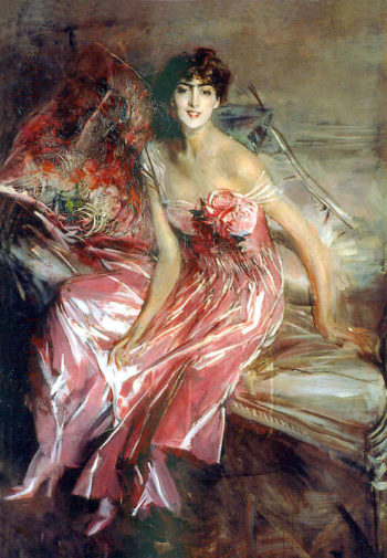 Lady in Rose | Giovanni Boldini | oil painting