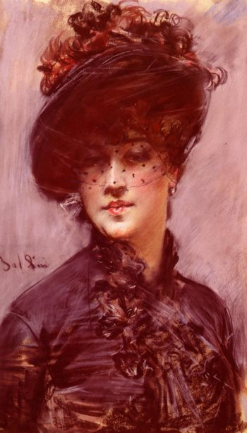 Lady with a Black Hat | Giovanni Boldini | oil painting