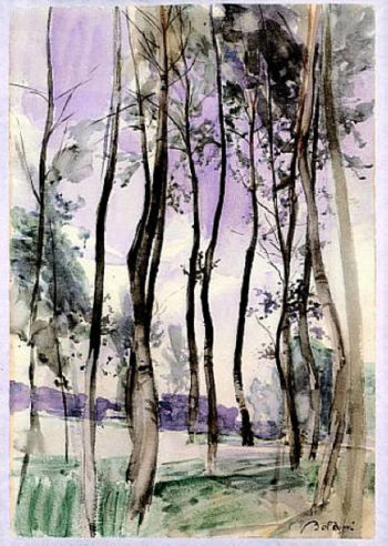 Landscape with Trees | Giovanni Boldini | oil painting