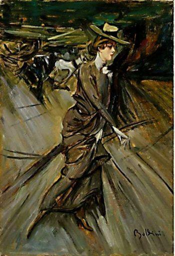 La passeggiata | Giovanni Boldini | oil painting