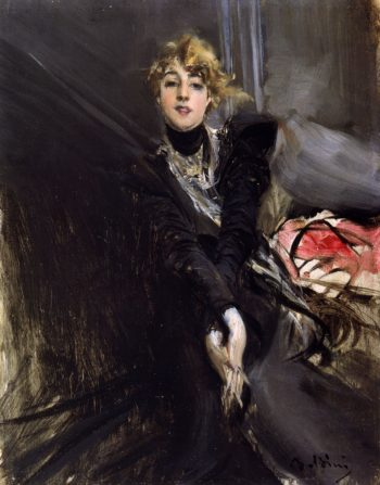 L'attrice Jane Renouardt | Giovanni Boldini | oil painting