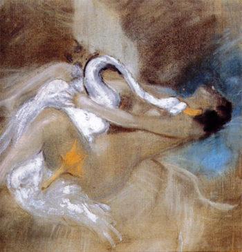 Leda with Swan | Giovanni Boldini | oil painting